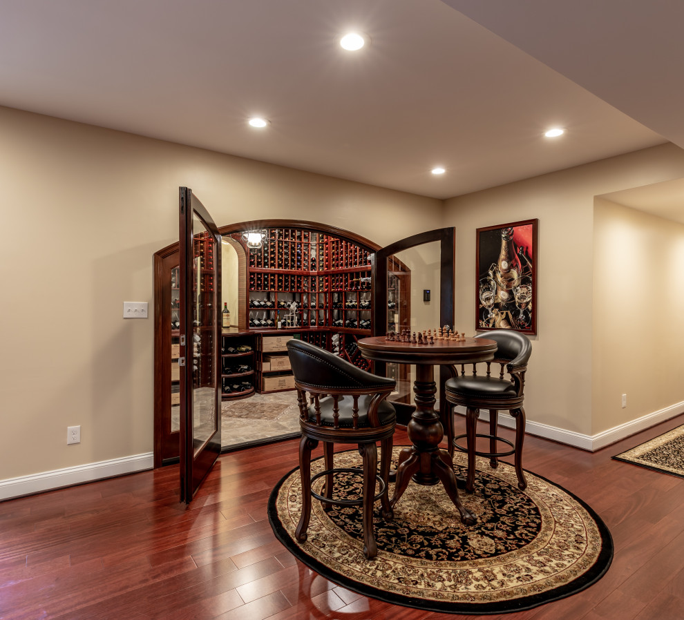 Home Design Basement Ideas: Amazing Basement Remodel, With Irresistible Wine Cellar In