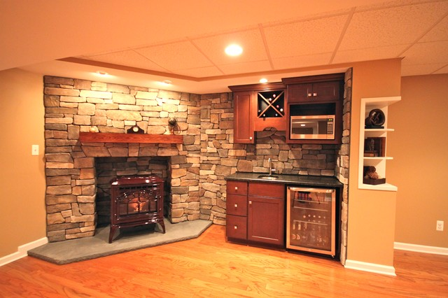 An Open Concept Traditional Basement Other Metro