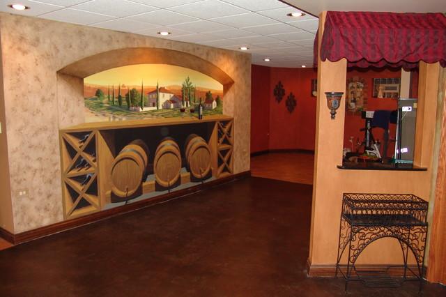 Ann Art Faux Finishes / Tuscany basement mediterranean-basement