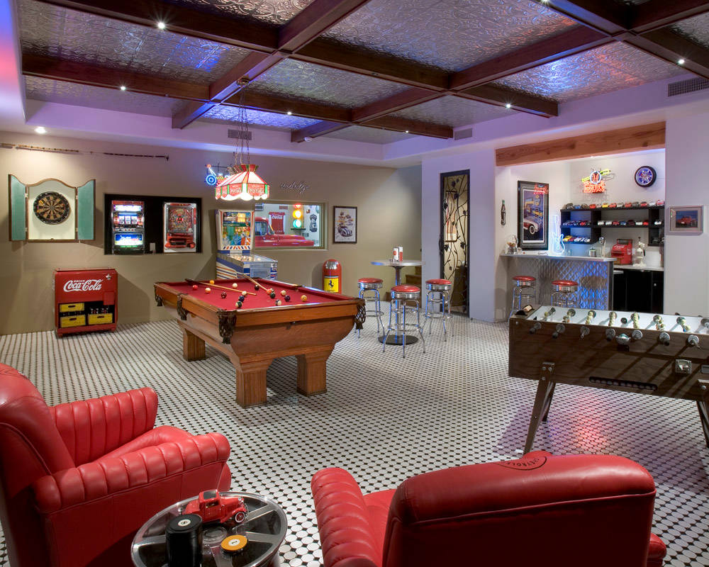 75 Beautiful Basement Game Room Pictures Ideas March 2021 Houzz
