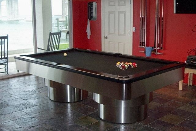 Art Deco Pool Tables Contemporary Basement Tampa