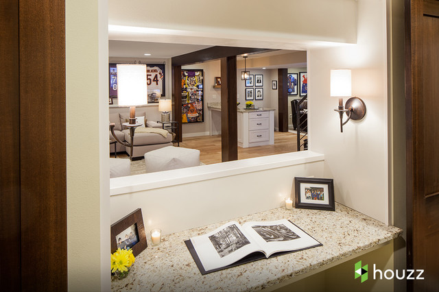Ashton Kutcher 39 S Parents 39 Basement Traditional Basement By Catherine Renae Thomas Design Co