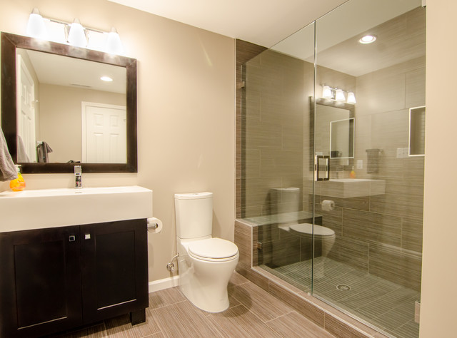 Cotter Ct Finished Basement Contemporary Bathroom Dc Metro By Abbey Design Center