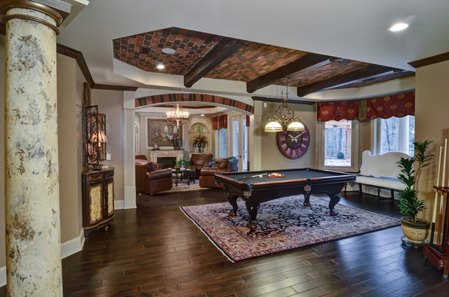 Atlanta Basement Design Build Traditional Basement Atlanta By Home Expressions Interiors