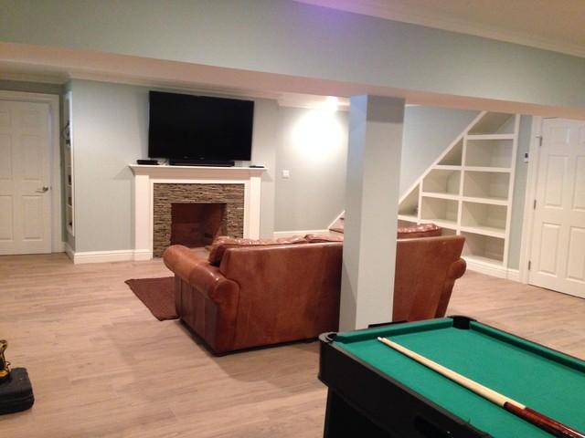 attic basement renovation in weston ct traditional basement