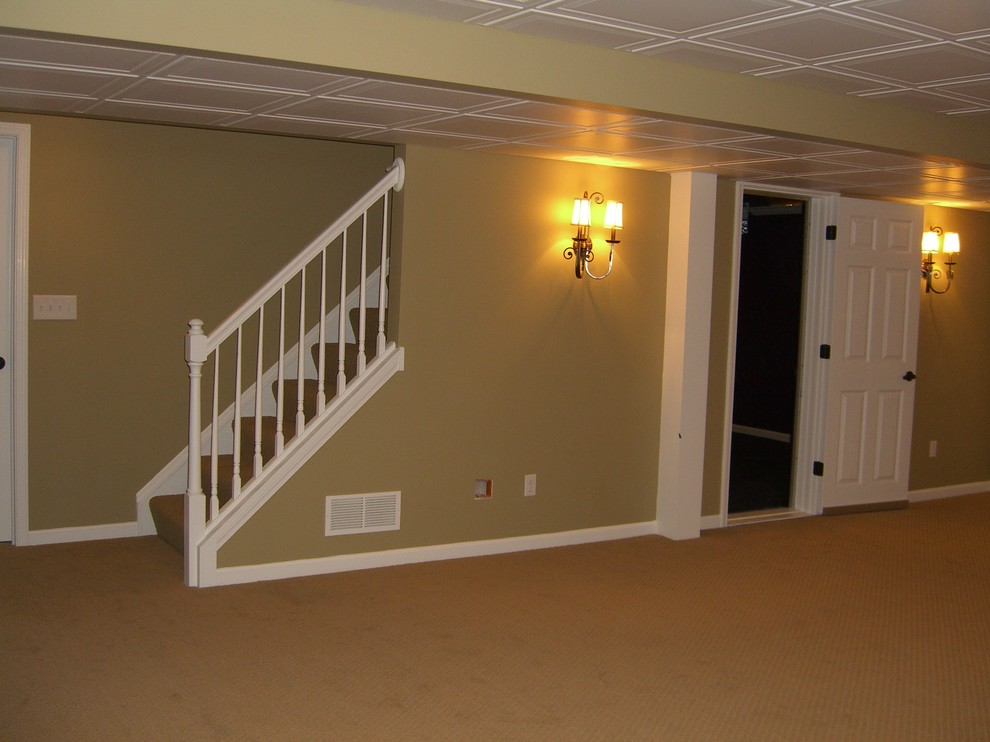 Avon Lake Basement Remodel Before And After Traditional
