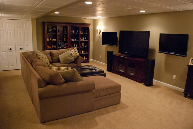 avon lake basement remodel before and after traditional basement cleveland by erinteriors. Black Bedroom Furniture Sets. Home Design Ideas