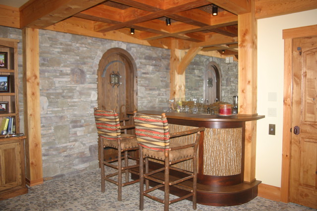 Bar Rustic Basement Other Metro By Garner Woodworks