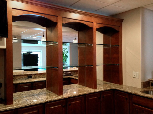 Bar Mirrors With 1 2 Shelves Traditional Basement Rh Houzz Com Back For Behind