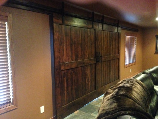 barn door hardware traditional basement other metro by basin