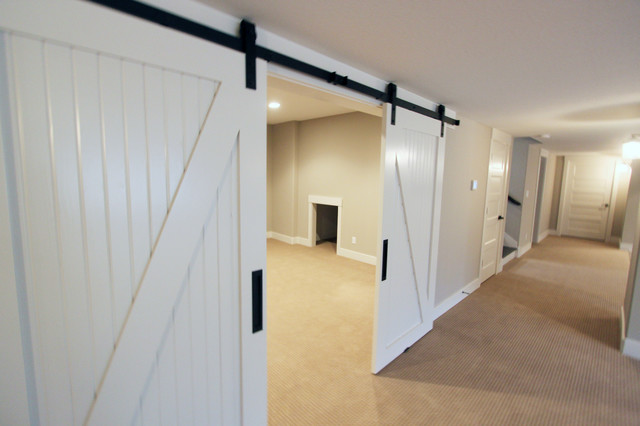 barn doors basement other metro by duke homes inc