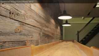 Barnwood Wall Farmhouse Basement detroit by