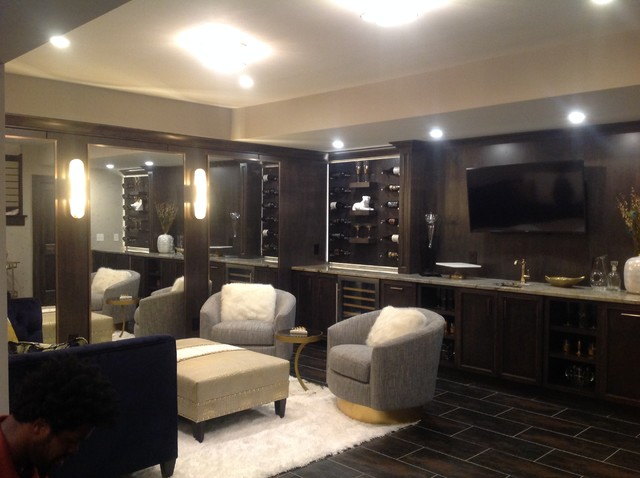 Inspiration for a basement remodel in Indianapolis