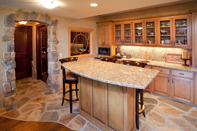 Bars Traditional Basement Other Metro By Stone