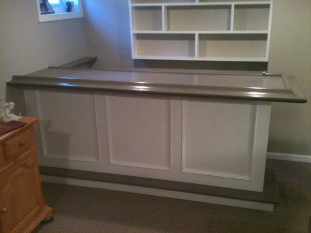 Basement bar - Traditional - Basement - New York - by AJS Remodeling Co.