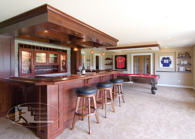 basement bar area traditional basement minneapolis by finished