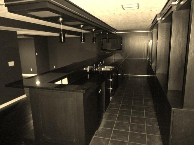 Basement Bar B W Modern Basement