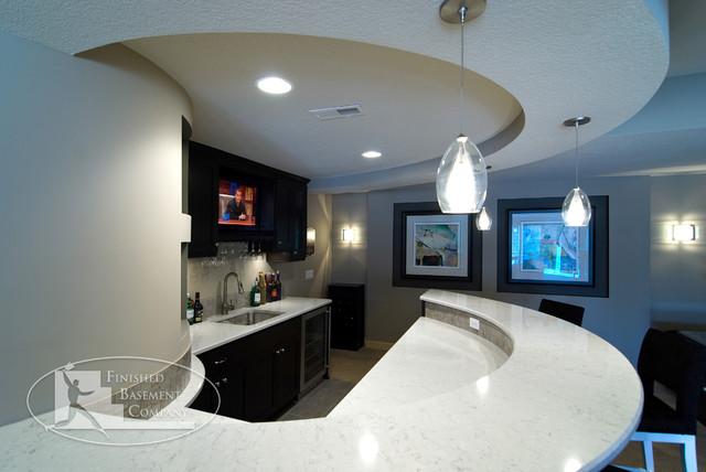 Basement Bar Countertop contemporary-basement