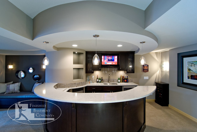 Basement Bar Contemporary Basement Minneapolis By