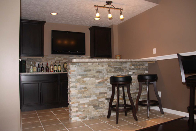 Basement Bar Ideas Cleveland Eclectic