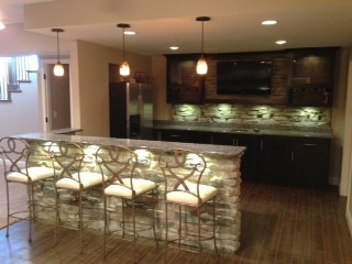 Basement Bar - Traditional - Basement - st louis - by Lustig Custom Cabinets