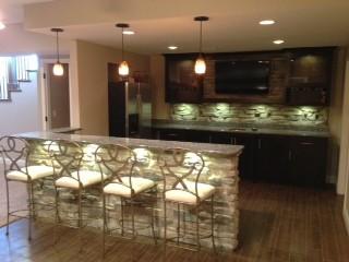 Basement Bar Traditional Basement St Louis by Lustig