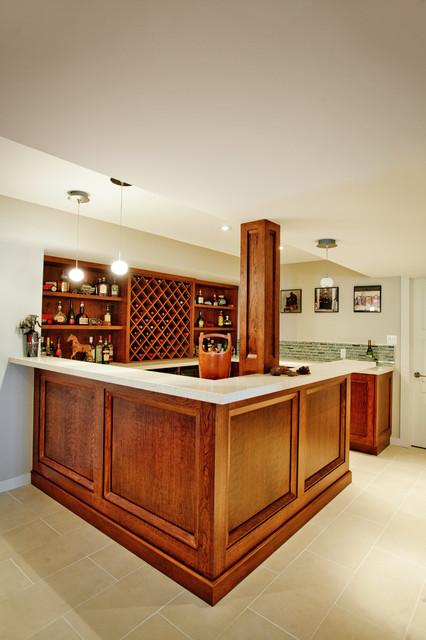 Basement Bar traditional-basement