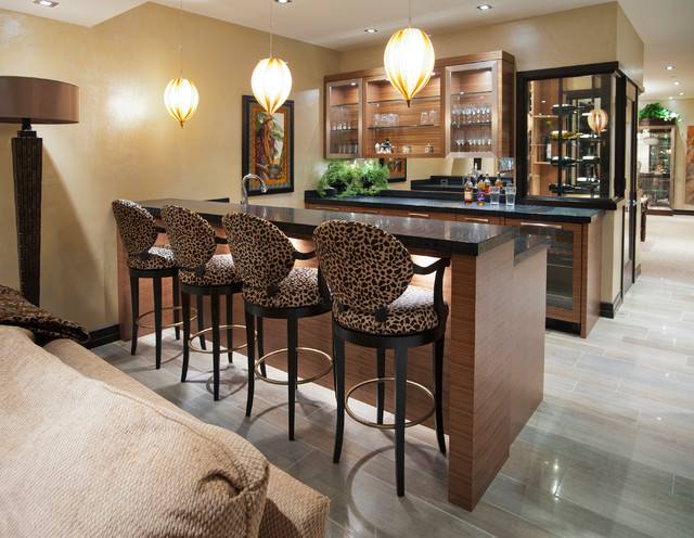 Basement Bar Contemporary Basement Vancouver By Old World Kitchens Custom Cabinets