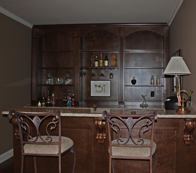 Basement Bar Remodel - Traditional - Basement - Atlanta ...