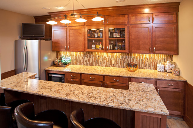 Bat Bar With Cambria Countertops Traditional Minneapolis By The Cabinet