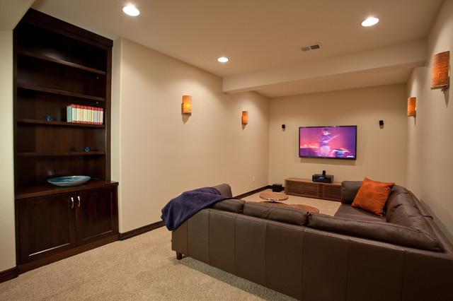 Basement finish contemporary-basement