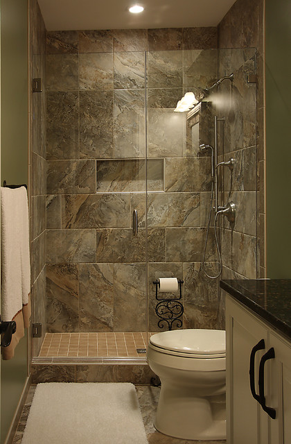 Basement bathroom traditional basement dc metro by for Small bathroom remodel