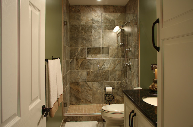 Ordinaire Basement Bathroom Traditional Basement