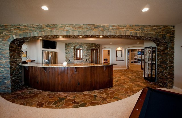 Basement designs traditional basement denver by the design studio - Basements by design ...