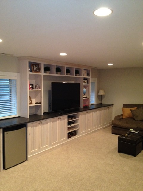 Basement Entertainment Center Traditional