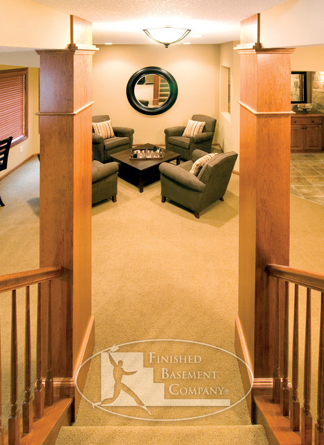 Basement Entry Stairway traditional-basement