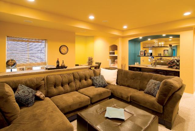 basement transitional family room - photo #7