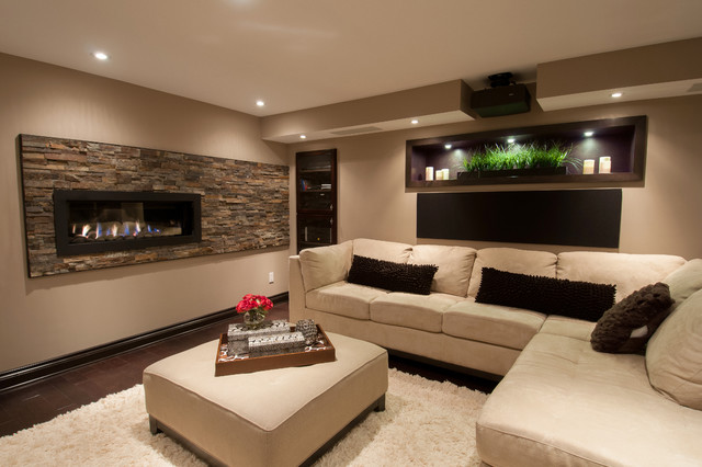 basement family room - contemporary - basement - ottawa -just