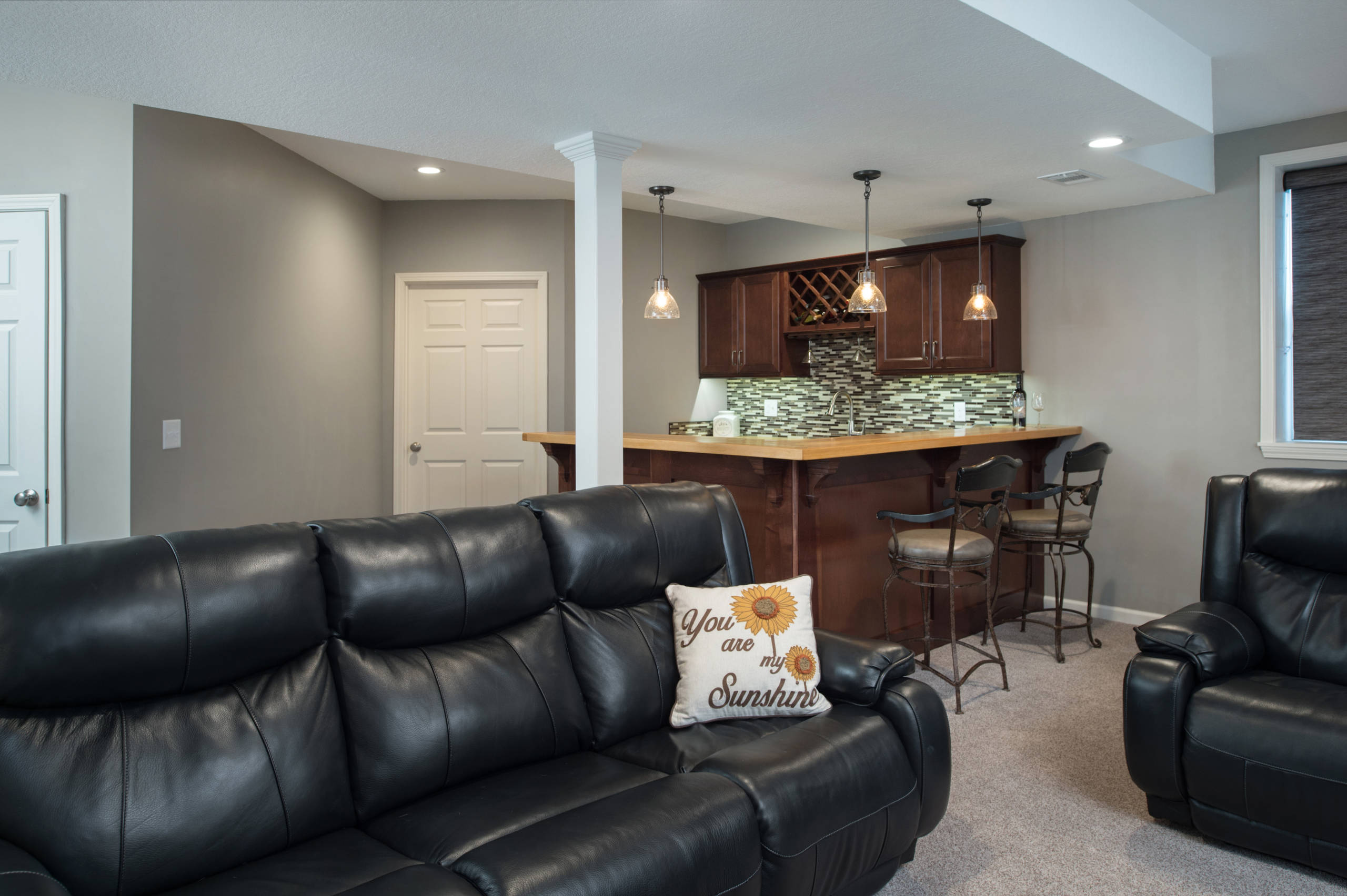 Basement Finished for Entertainment