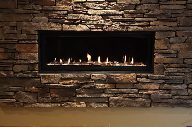 Basement Fireplace - Traditional - Basement - dc metro - by NVS Remodeling & Design