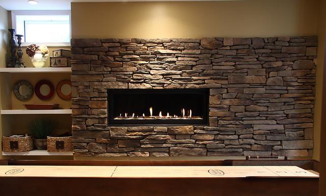 Basement Fireplace - Traditional - Basement - DC Metro - by NVS ...