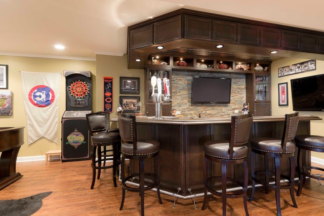 Basement fit for a sports fanatic - Contemporary ...