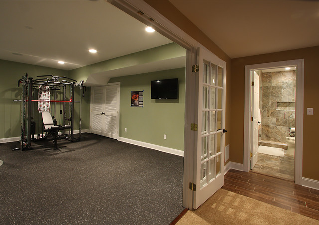 Basement fitness room traditional basement dc metro by nvs