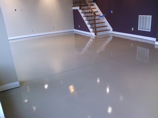 Basement Floor 2 Modern Basement Cincinnati By