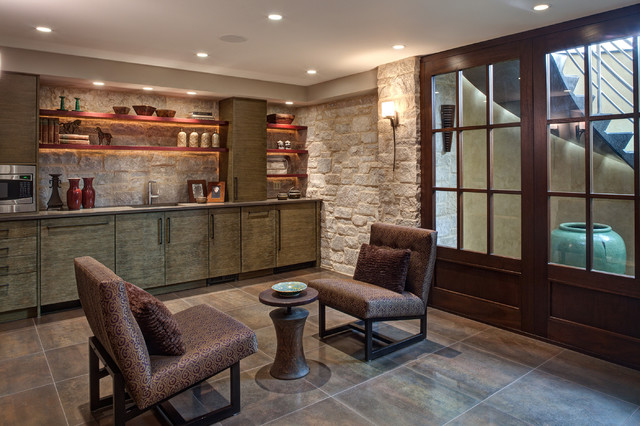 Basement - Contemporary - Basement - Chicago - by Fredman Design Group