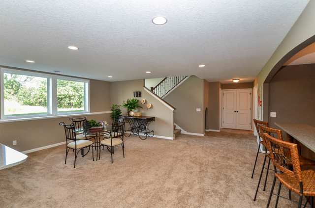 basement game area transitional basement minneapolis by