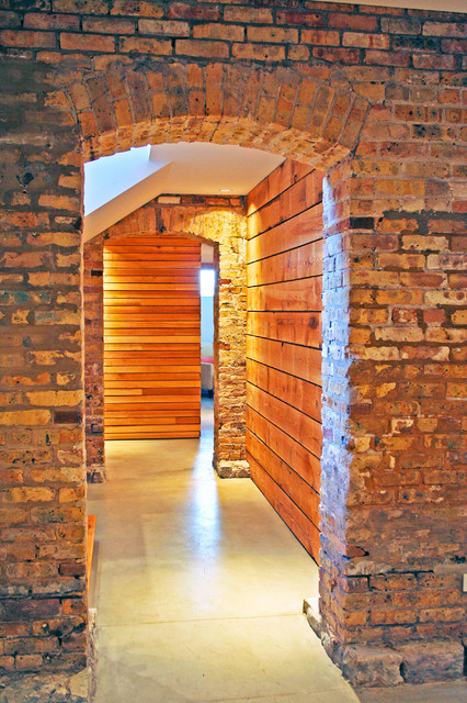basement hallway industrial-basement