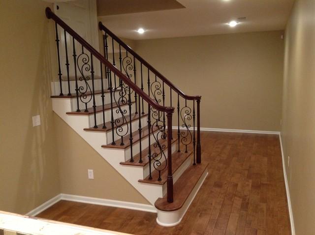 Basement hardwood floors traditional basement other