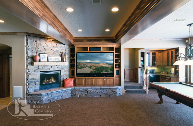 Fireplace Mantels Traditional Living Room Charlotte additionally Feathered Dark Grey further Basement Home Theater And Fireplace Traditional Basement Minneapolis further Modern Kitchen Contemporary Living Room Los Angeles besides GEORGE V Private Royal Suite. on fireplace pendant lighting