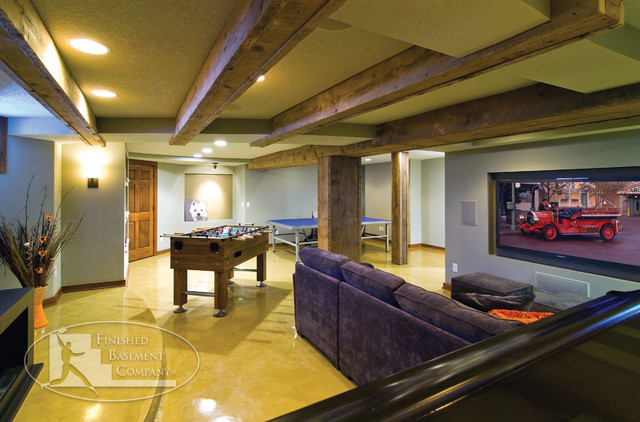 Basement Home Theater And Gaming Contemporary Basement